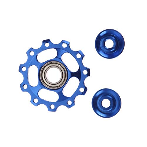 NVFED Aluminum Alloy Bicycle Rear Derailleur Jockey Wheel Road Mountain Bike Guide Roller Idler Pulley Part Cycling Bike Accessories (Color : Blue)