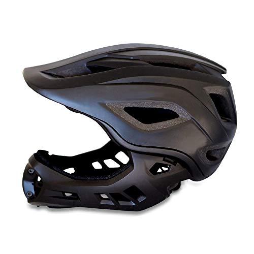 Crazy Safety MT fahrradhelm fullface: CE-zertifizierter BMX- & Mountainbike Fahrradhelm für Jungen, Mädchen und Kleinkinder im Alter von 3–12 | 2 in 1 Fahrrad, MTB und BMX Fullface Kinderhelm