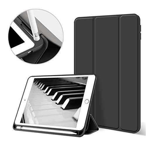 """aoub - Custodia per iPad Mini 5a generazione 7,9"""" 2019 con portapenne sottile, leggera, con supporto per auto per sveglia/sonno per Apple iPad Mini 5a generazione, modello A2133 / A2125, colore: Nero"""