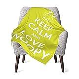 AEMAPE Halten Sie Muschel und Liebe Snoopy Babydecke oder Flauschige Decke für Kinder Unisex Überwurfdecke für Couch Chair Travel Superweiche warme Kinderdecke 50x40in