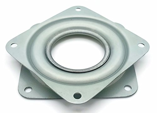 """One Square 4"""" Inch Lazy Susan Turntable Bearing - 5/16"""" Thick & 300 LB Capacity"""