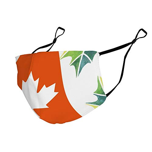 Maple Leaf Plant Canada Flag Canada Leaf Dustproof, Comfortable, Washable and Reusable, Unisex Breathing Cover.