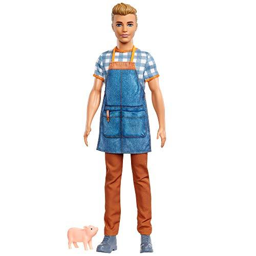 Barbie GJB62 Sweet Orchard Farm Ken Doll, Multi-Coloured