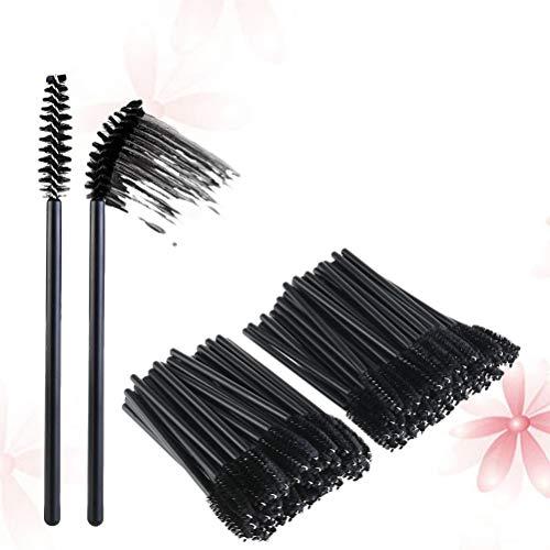 Lurrose 12PCS Mascara brosse professionnelle applicateur de cosmétique pratique jetable brosse à sourcils nylon brosse à Mascara