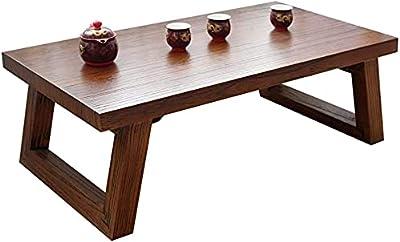 Coffee Table Living Room Bedroom Living Room Small Tea Table Bedroom Small Square Table Bedroom Side Table Staff Desk Load Capacity 230kg (Color : Brown, Size : 60 * 40 * 35cm)