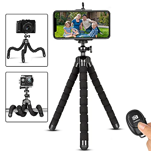 Phone Tripod,Portable and Flexible Adjustable Cell Phone Stand Holder...