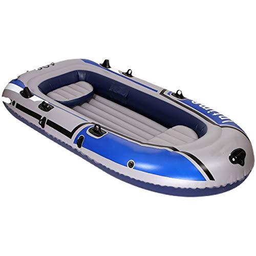 Juego De Bote Inflable para con Remos Y Bomba Kayak Inflable Plegable Canoa De Goma Resistente Al Desgarro para Pescar Rafting Al Aire Libre