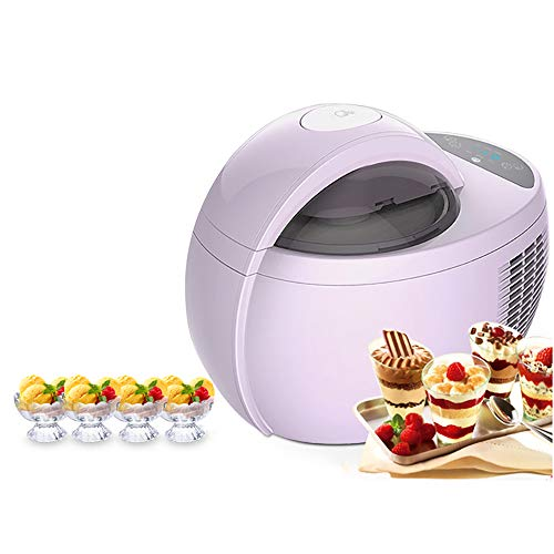 WENCY Púrpura Máquina De Postres De Frutas 1L Portátil Un Clic Automático Mudo Hogar Cocina