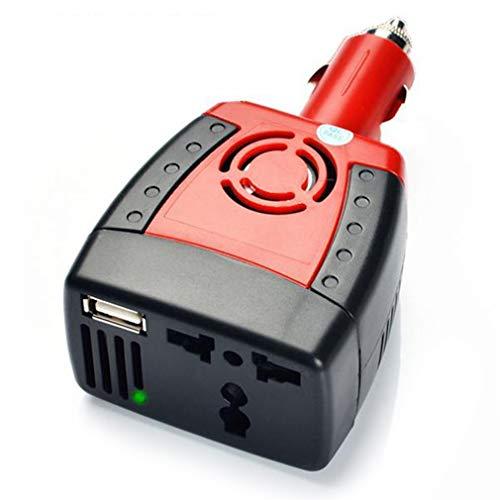 WEQQ 150W Auto Cambio 12V a 220V 110V convertidor de Potencia Encendedor de Cigarrillos (redUSB2.1A)