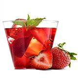 MATANA 60 Vasos Transparentes de Plástico Duro para Fiestas, 270ml - Resistente
