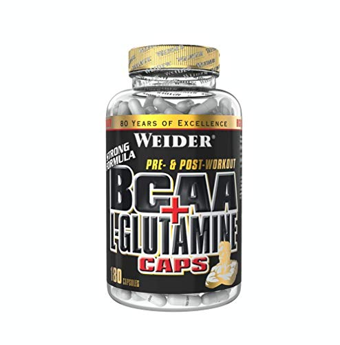 Weider BCAA + Glutamine, Recovery, Strength, Endurance, 180 Capsules