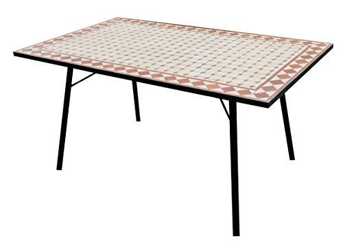 Gruppo Maruccia Tavolo da Giardino Rettangolare in Mosaico di Ceramica