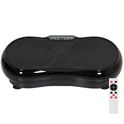 Best Choice Products Full Body Vibration Platform w/Remote Control and Resistance Bands, Black