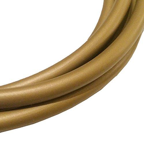 Kabel H03VV-F 3 x 0,75qmm gold 2 Meter PVC isolierte Rundleitung - Goldkabel - Leuchtenkabel - Lampenkabel