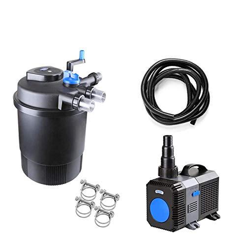 Pondlife CPF-20000 Set 6 Druckteichfilter mit integrierter UVC-Einheit 36 Watt für Teiche bis 40000 Liter Teichfilter Druckfilter Bachlauf