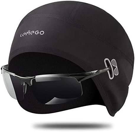 LEMEGO Skull Cap Helmet Liner Running Beanie with Ear Cover Fits Glasses Windproof Thermal Performance product image