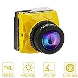 Makerfire Caméra FPV Caddx Ratel 1200TVL Micro FPV Cam OSD Night Version 2.1mm Objectif PAL / NTSC 16: 9/4: 3 Commutable pour Brushless Whoop Nano Drone Jaune