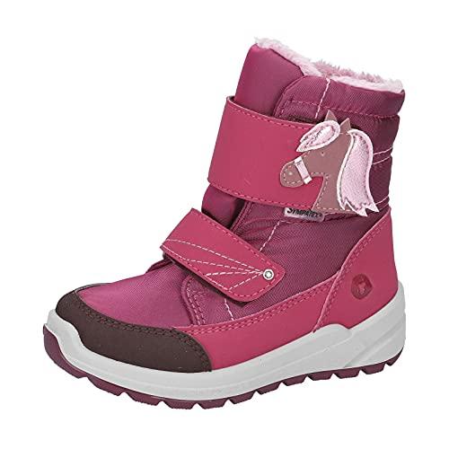 RICOSTA Mädchen Boots GAREI, Weite: Mittel (WMS),Sympatex,waschbar,Outdoor-Kinderschuhe,gefüttert,wasserdicht,Fuchsia (364),27 EU / 9 Child UK