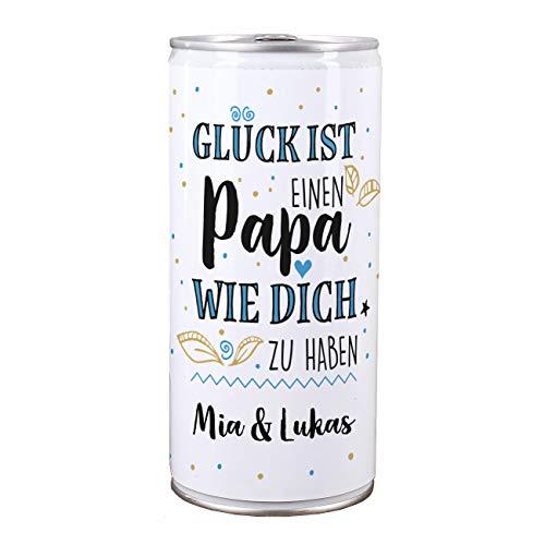 Lustapotheke® Vatertagsbier - 1 l Bierdose Premium Lager - Glück ist einen Papa wie dich zu haben - das Biergeschenk zum Vatertag