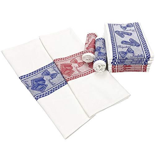 Baiyi de Cocina Trade - Paquete de 8 Toallas de Cocina de algodón - 50 X 70 CM Toallas de Cocina Holiday - Toallas de Cocina Suaves - Tela de algodón 100% Puro