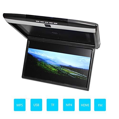 XZZTX 17,3 inch Flip Down Car Monitor, 1080P Auto Overhead MP5 Player Dak gemonteerde LCD Monitor Ondersteuning FM/IR/USB/TF/HDMI Input