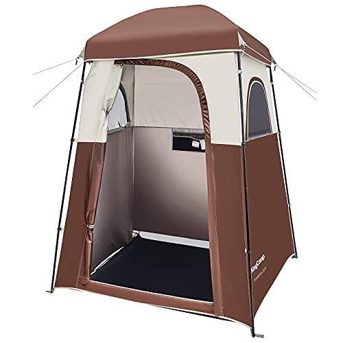 KingCamp Tenda da Campeggio per Spogliatoio Singola Tenda Cabina Doccia Bagno Toilette da Campeggio Privata Compatta Solida Traspirante Spaziosa Montaggio Facile Portatile Riparo Privato all'Aperto