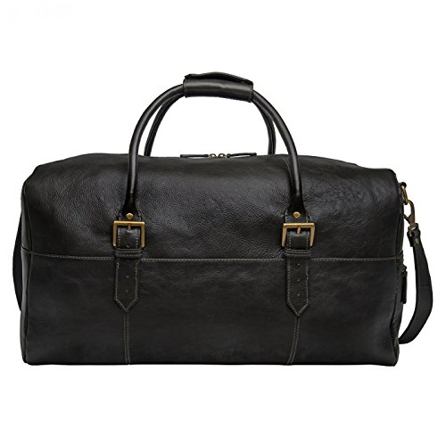 Hidesign Leather 20' Carry-on Cabin Duffel Bag Luggage Black