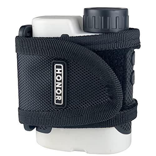 HONOR(オナー) ゴルフレーザー距離計用ストラップ バンド レンジファインダー収納 距離計測器ホルダー 計測器収納 マジックテープ開閉 強力マグネット付き 携帯に便利 軽量 (ブラック)