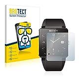 BROTECT Protector Pantalla Cristal Compatible con Sony Smartwatch 2 Protector Pantalla Vidrio - Dureza Extrema, Anti-Huellas, AirGlass