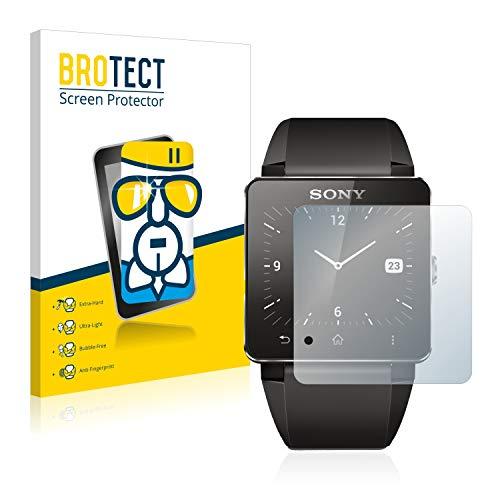 BROTECT Panzerglas Schutzfolie kompatibel mit Sony Smartwatch 2-9H Extrem Kratzfest, Anti-Fingerprint, Ultra-Transparent
