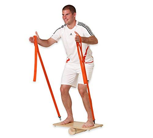 pedalo Rola-Bola Power-Set I Rola-Bola Sport inkl. Textil-Powerbänder I Gleichgewichtstrainer I Balance Board I Wippe I Koordination I Balancierbrett I Functional Training