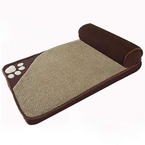 Komfort-Haustierbetten für Hunde und Katzen Orthopädisches Schlafsofa Memory Foam Matratze Kissen Abnehmbarer Bezug Leicht zu reinigen Weiche Die Touch-Familie,Brown,M
