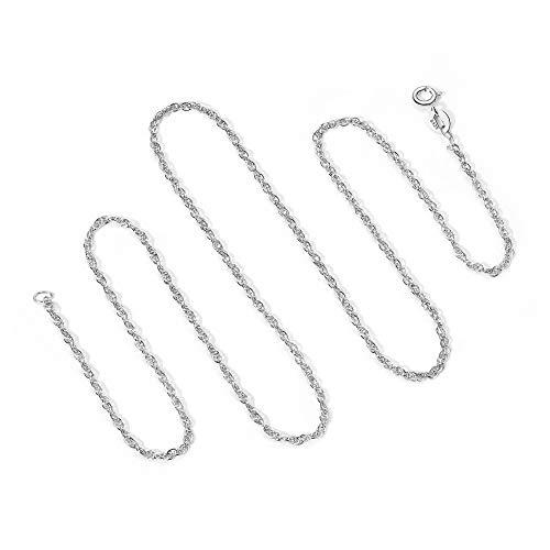 T400 Jewelers 925 Sterling Silber 1.7mm Seil Kette Halskette Spring Clasp, 40cm