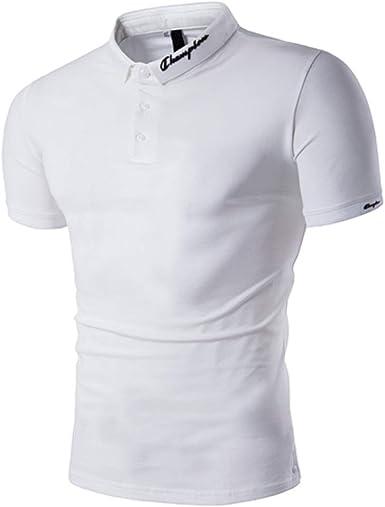 Gdtime Polos Hombre Polo de Manga Corta Polo de algodón Camiseta de Verano Polo de Hombre