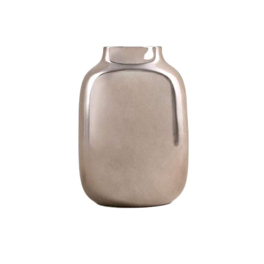 インカ帝国予定アセンブリXZGang ラウンド花瓶、ミラー効果装飾花瓶クリエイティブセラミック花瓶エントランス回廊フラワーアレンジメント花瓶サイズ14 * 14 * 20CM デコレーション (Size : 14*14*20CM)