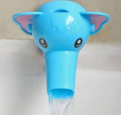 Liroyal Extensor de extensión de grifo lindo para ni?os Bebé lavar las manos Ba?o Dise?o de elefante de dibujos animados (Azul)