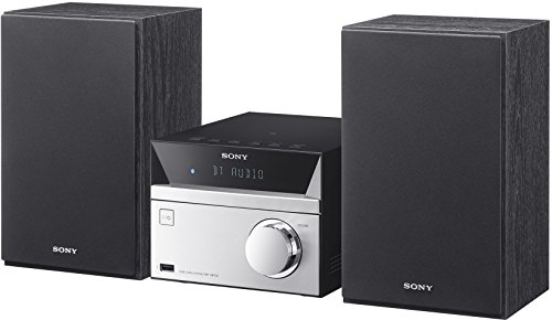 Sony CMT-SBT20 Micro-Systemanlage (Kompakte Design, CD, FM-Tuner, RDS, USB-Eingang, Bluetooth, NFC) silber