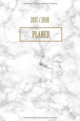 Planer 2017 2018: A5 Taschenplaner und Taschenkalender Wochenkalender für das gesamte Jahr Kalender 2017 2018
