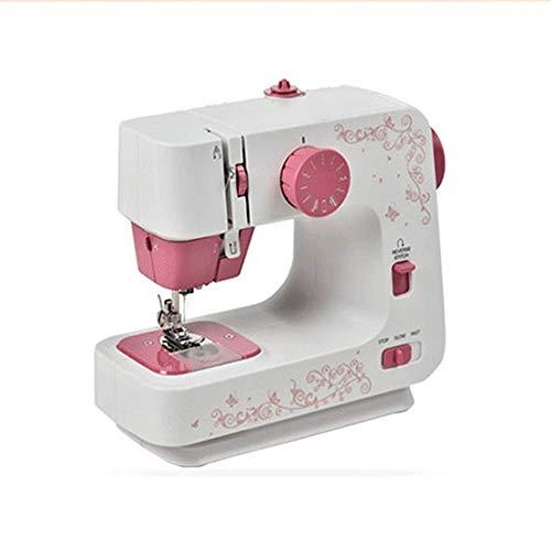Hojkl naaimachine, draagbaar, dubbele draden, vrije arm, ideaal voor beginners en gevorderden, 12 sticks, 22 x 12 x 22 cm, beginners, reizen