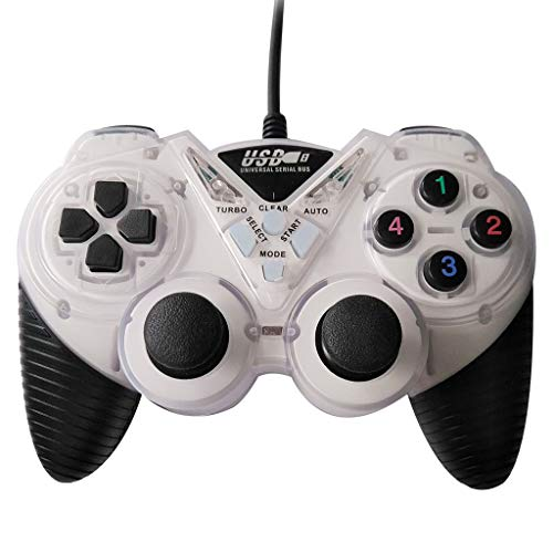 Wondiwe Game Controller, Wired USB Game Controller for PC Computer...
