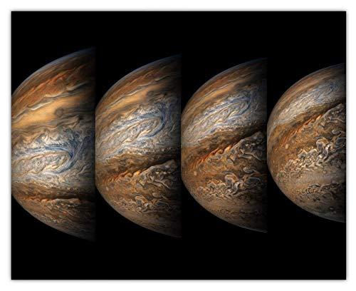 Juno Spacecraft Jupiter Swirls Wall Art Print: Unique Room Decor for Boys,...