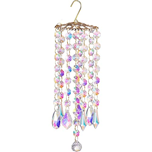crazerop Atrapasoles de cristal prisma de cristal para colgar decoración de ventanas, decoración colgante de Fengshui, colgante de arco iris, para ventanas, jardín, hogar