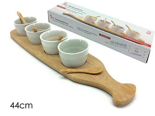 Set 4 Antipastiere C/Base+Cucchiaini