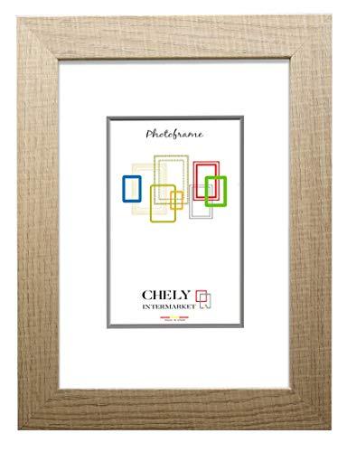 Chely Intermarket, Marco de Madera 40x50cm MOD-204 (Haya) | Estilo Vintage | Marco de Fotos para decoración de casa | Fotografías de Boda | Fotos de Paisajes | Listado de Precio (204-40x50-0,95)