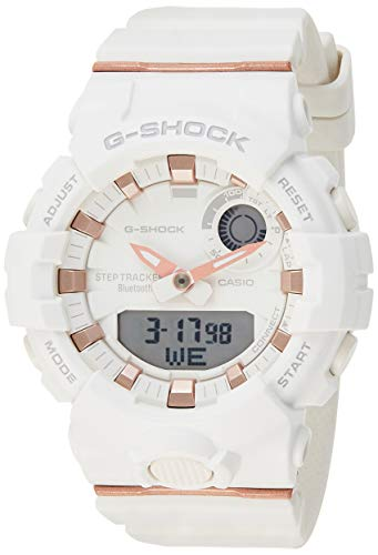 Casio G-Shock S-Series Analog-Digital White Dial Women's Watch-GMA-B800-7ADR