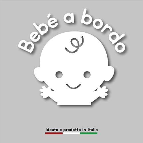 Artigiani Digitali Adesivo Accessori Auto e Moto Bimbo, Neonato Baby Bebe a Bordo Famiglia in Macchina Decalcomania lunotto Car Stickers No Personalizzato