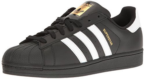 adidas Originals Superstar B27140, Unisex-Erwachsene Low-Top Sneaker, Schwarz (Core Black/Ftwr White/Core Black), EU 38 2/3
