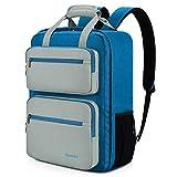 Gonex 35L Travel Backpack, 14 Inch Carry on Casual Laptop Daypacks for Men Women for Work Office College Business Schoolbag Bookbag Blue+Gray