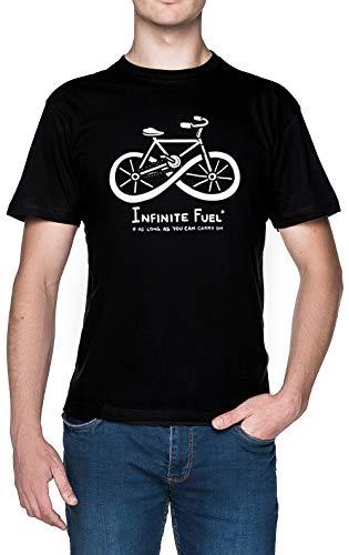 Infinite Fuel Negro Hombre Camiseta Black Men's T-Shirt tee