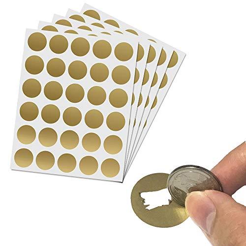 150 pezzi, 25mm, Gratta e Vinci Adesivo Rotondo (Scratch Sticker) - Oro